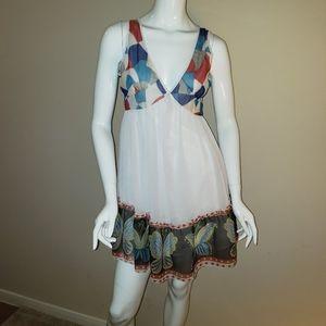 Yumi Butterfly trim sun dress